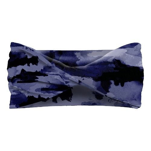 Womens Road Runner Sports Two Tone Headband Headwear - Midnight Blue/Camo