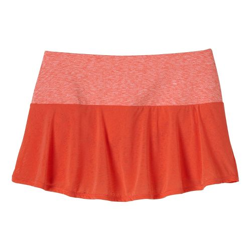 Womens Prana Arissa Skort Fitness Skirts - Neon Orange M