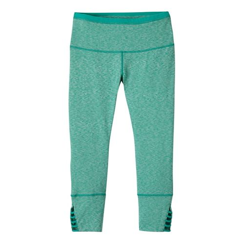 Womens Prana Tori Capri Tights - Cool Green L