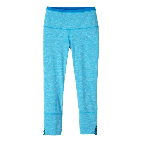 Womens prAna Tori Capris Tights - Electro Blue XS