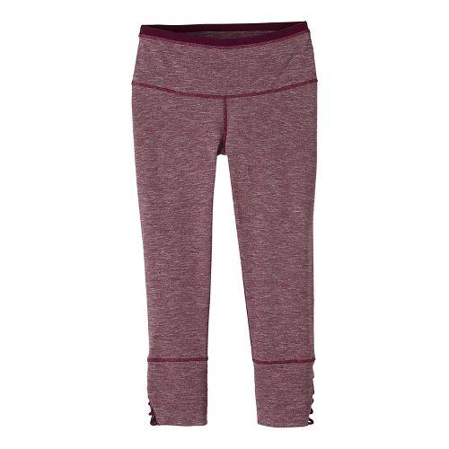 Womens prAna Tori Capris Tights - Purple XL