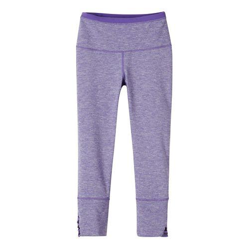 Womens prAna Tori Capris Tights - Ultra Violet M