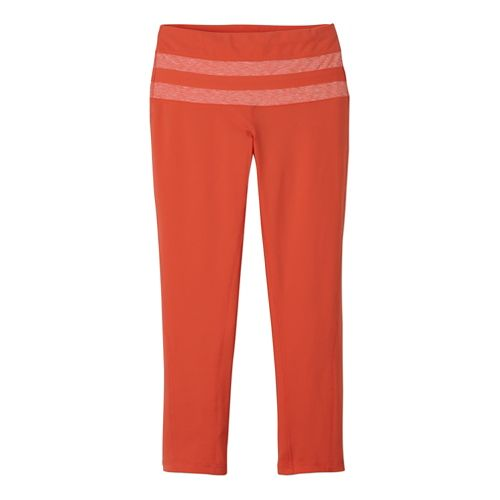 Womens Prana Florence Capri Tights - Neon Orange L