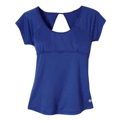 Womens Prana Paloma Short Sleeve Technical Tops - Sail Blue XS