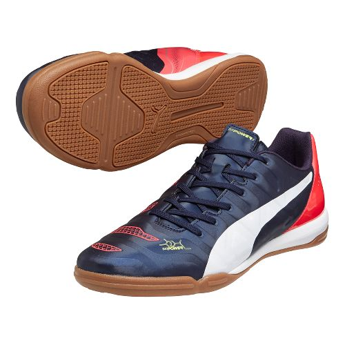 Mens Puma EvoPower 3.2 IT Court Shoe - Peacoat/Plasma 12.5