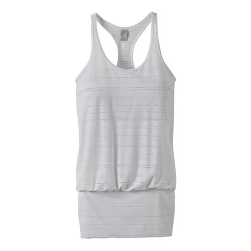 Womens Prana Ambrosia Sleeveless & Tank Technical Tops - White S