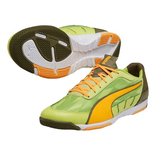 Mens Puma Nevoa Lite 2.0 Court Shoe - Green/Flash Orange 4.5