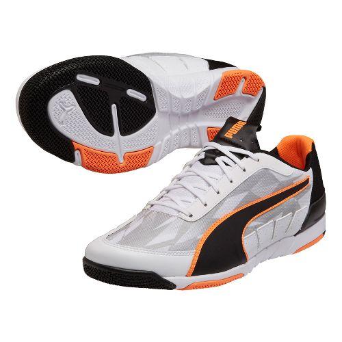 Mens Puma Nevoa Lite 2.0 Court Shoe - Green/Flash Orange 7.5