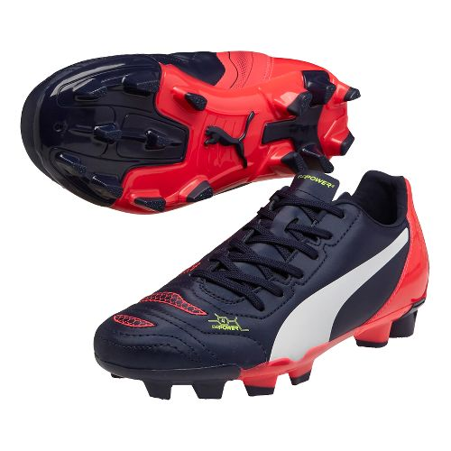 Kids Puma EvoPower 4.2 FG Cleated Shoe - Peacoat/Plasma 1.5