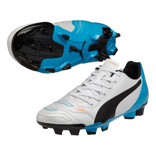 Kids Puma EvoPower 4.2 FG Cleated Shoe - White/Black 1