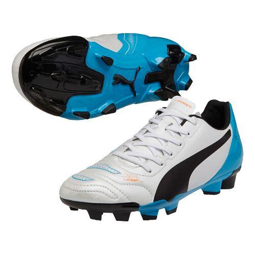 Kids Puma EvoPower 4.2 FG Cleated Shoe - White/Black 3.5