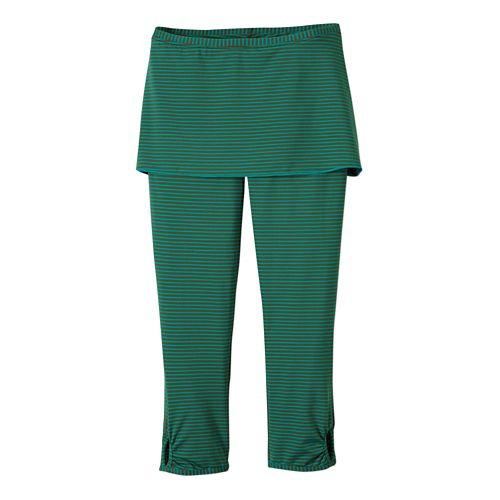 Womens Prana Estella Capri Tights - Dynasty Green XL