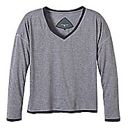 Womens Prana Robyn Long Sleeve No Zip Technical Tops