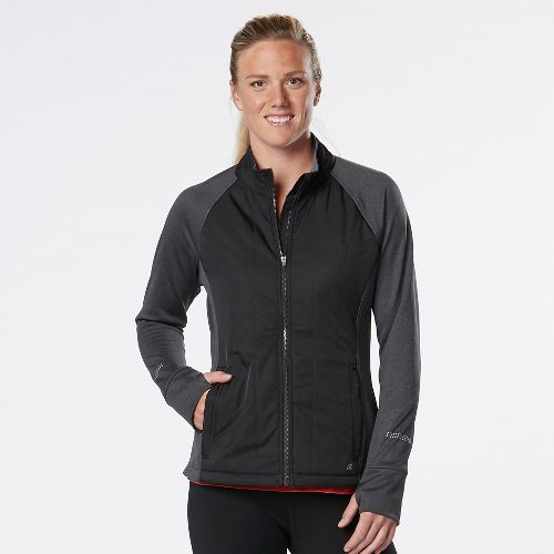 Womens Road Runner Sports Warm Haven Puff Outerwear Jackets - Black L