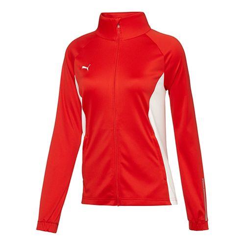 Womens Puma Hergame Walkout Lightweight Jackets - Red/White XS
