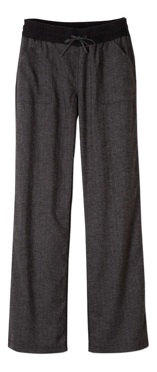 Womens Prana Mantra Pants - Black Herringbone M