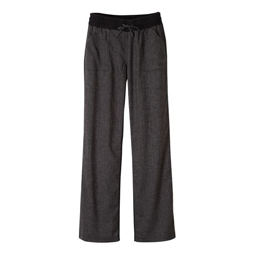 Womens Prana Mantra Pants - Black Herringbone S