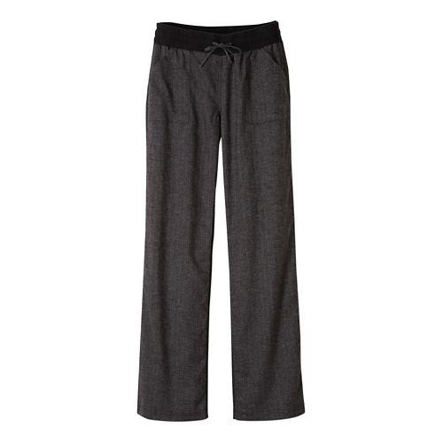 Womens Prana Mantra Pants - Black Herringbone XL