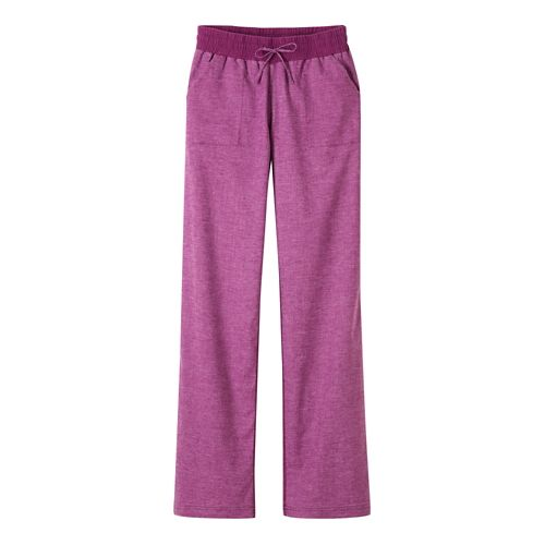 Womens Prana Mantra Pants - Light Red Violet L