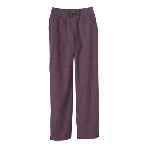 Womens Prana Mantra Full Length Pants - Passion Plum S
