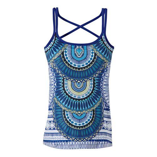 Womens Prana Marley Bra Tank Technical Tops - Blue Tribe XL