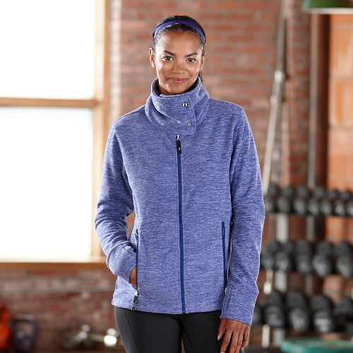 Womens Road Runner Sports Wonderland Fleece Lightweight Jackets - Heather Twilight M