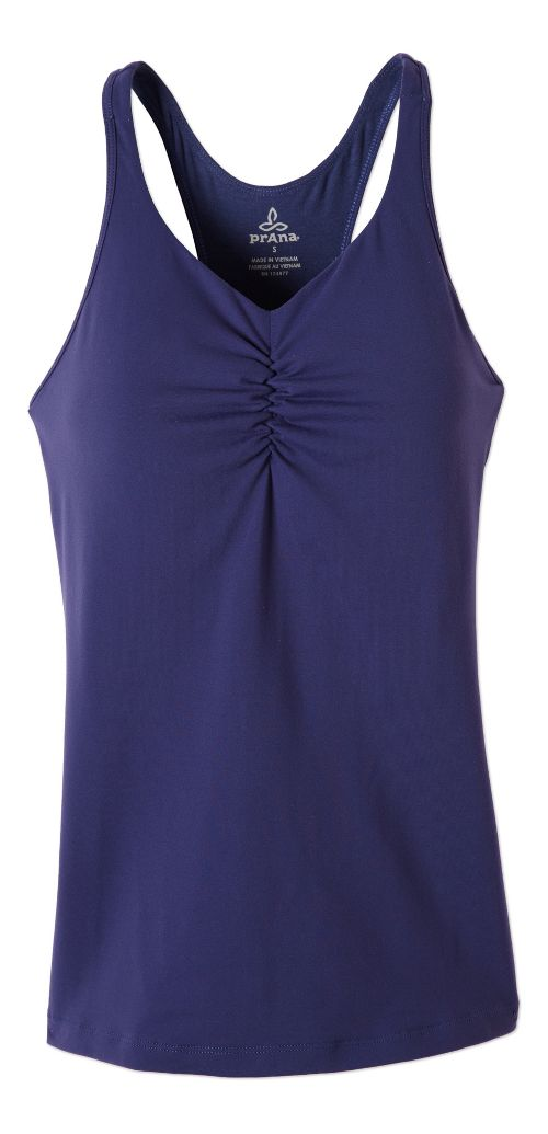 Womens Prana Sabin T-Back Sleeveless & Tank Technical Tops - Indigo XL
