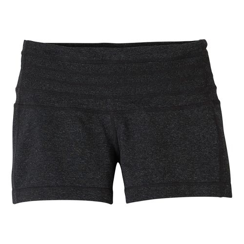 Womens Prana Olympia Unlined Shorts - Charcoal Heather XL