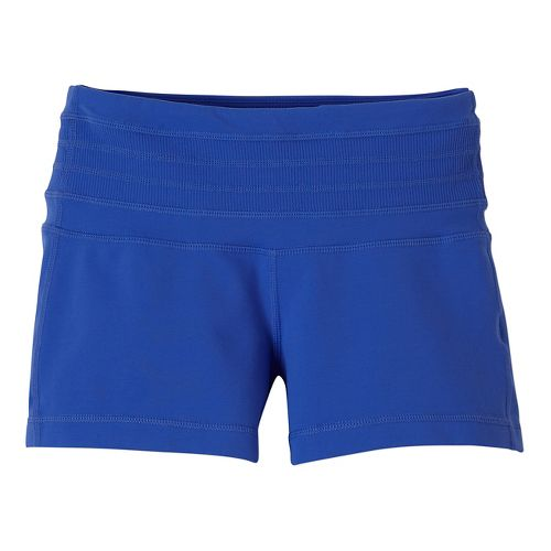 Womens Prana Olympia Unlined Shorts - Blue Jay XS