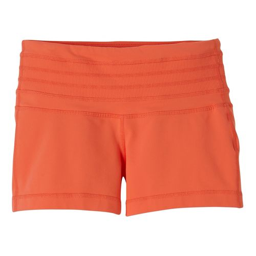 Womens Prana Olympia Unlined Shorts - Neon Orange L