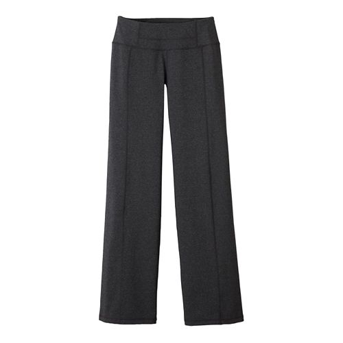 Womens Prana Julia Full Length Pants - Charcoal Heather L-S