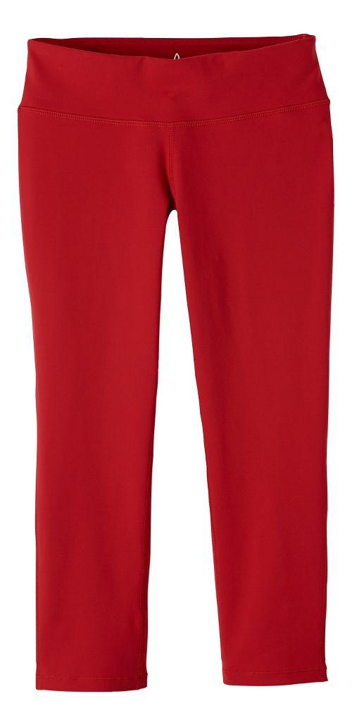 Womens prAna Ashley Legging Capris Tights - Red XS