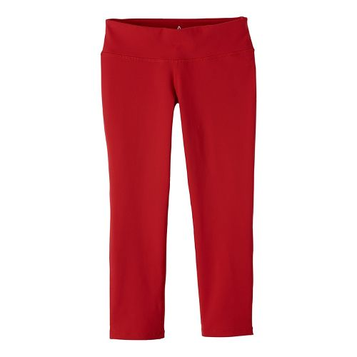 Womens prAna Ashley Legging Capris Tights - Red XS