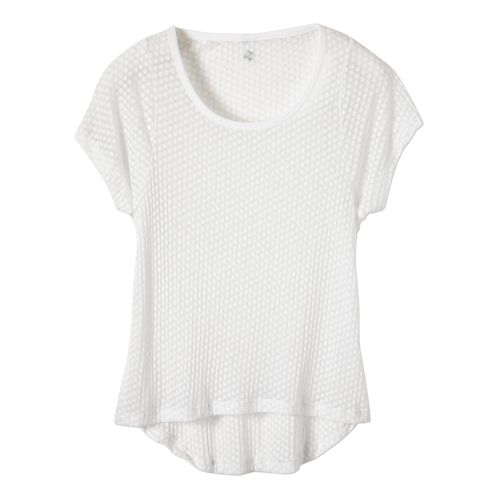 Womens Prana Cherish Short Sleeve Technical Tops - White L