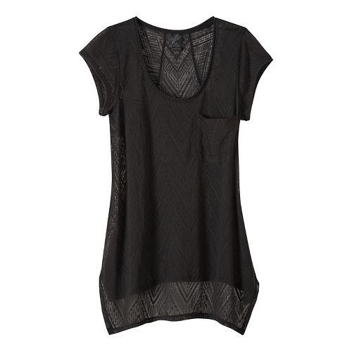 Womens prAna Skylar Short Sleeve Technical Tops - Black XS