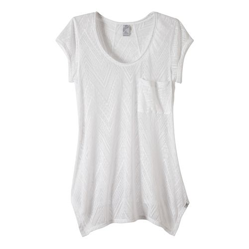 Womens prAna Skylar Short Sleeve Technical Tops - White S