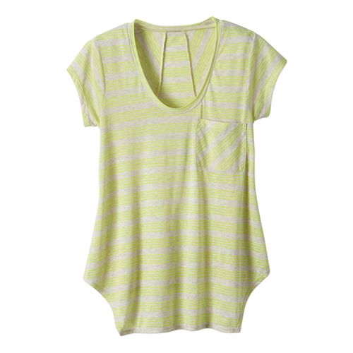 Womens Prana Skylar Short Sleeve Technical Tops - Limeade S