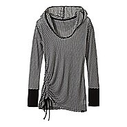 Womens Prana Vinyasa Long Sleeve Hooded Technical Tops