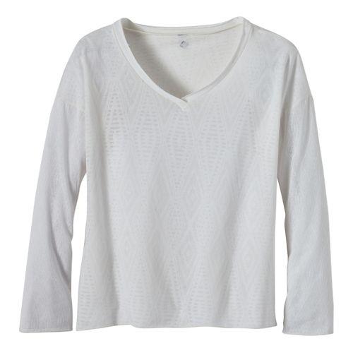 Womens Prana Strata Long Sleeve No Zip Technical Tops - Dusty Turq XL