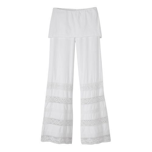 Womens Prana Malibu Full Length Pants - White M