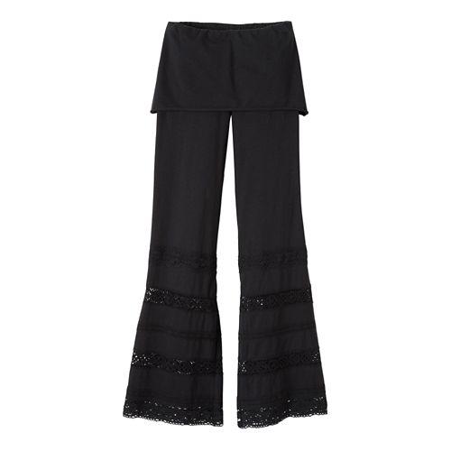 Womens Prana Malibu Full Length Pants - Black XS