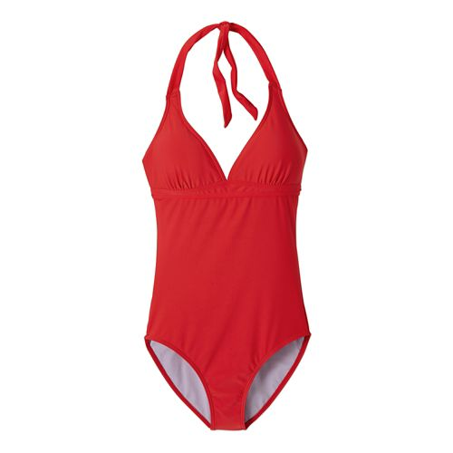 Womens Prana Lahari One PieceSwim - Cherry Pop XS