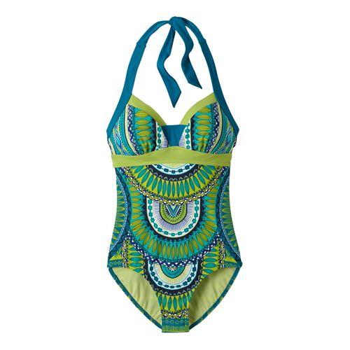 Womens Prana Isla One PieceSwim - Teal Tribe L