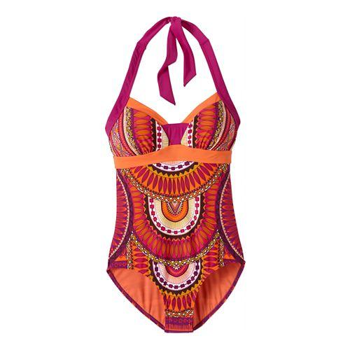 Womens Prana Isla One PieceSwim - Fuchsia Tribe S