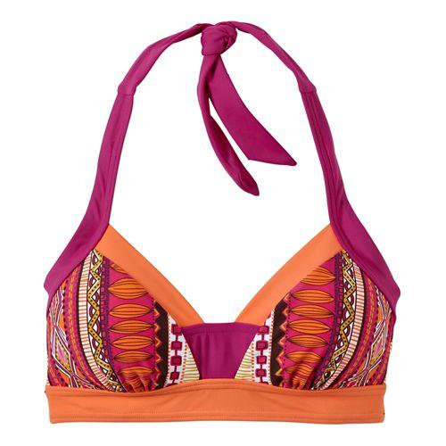 Womens Prana Isla TopSwim - Fuchsia Tribe XL