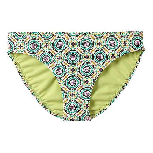 Womens Prana Lani Bottom Swim - Cool Green Sundial S