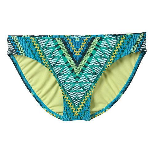 Womens Prana Lani Bottom Swim - Vivid Blue Panama M