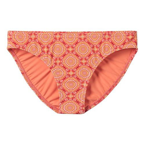 Womens Prana Lani Bottom Swim - Neon Orange Sundial S