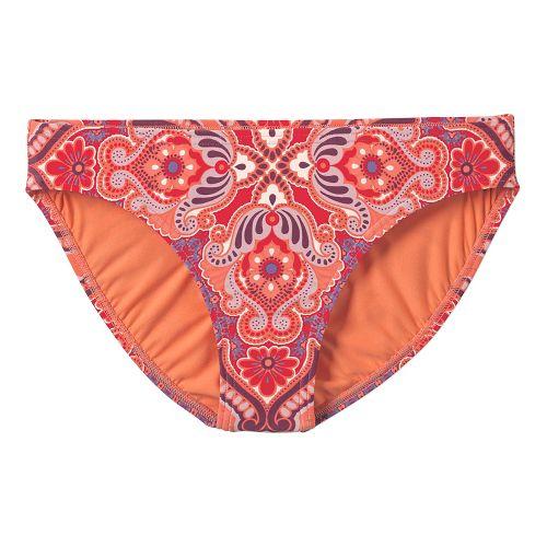 Womens Prana Lani Bottom Swim - Neon Orange Jasmine XL