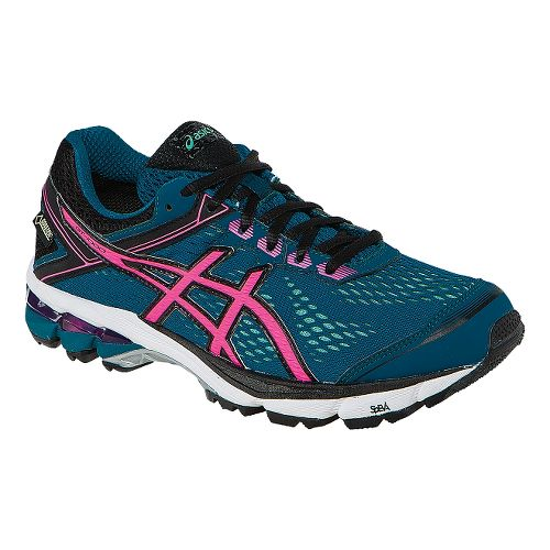 Womens ASICS GT-1000 4 G-TX Running Shoe - Blue/Pink 8